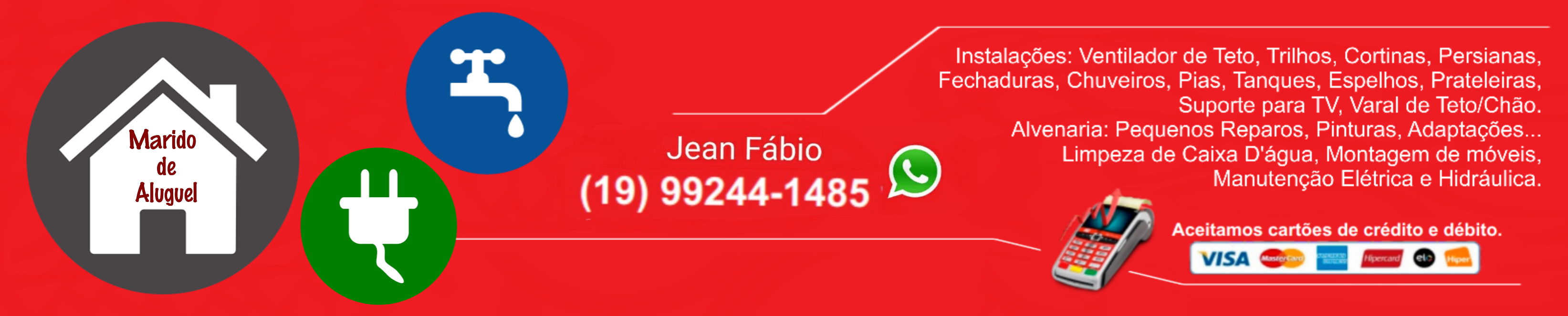 Jean Fabio - Marido de Aluguel em Americana SP e região - JFMA